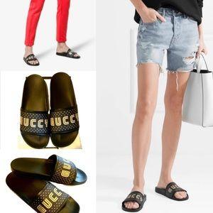 Gucci Pursuit Guccy Slude Sandals